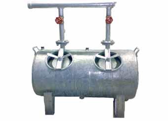 ASA 100 - dvojkomorovy pieskovy filter 4 s prirubou